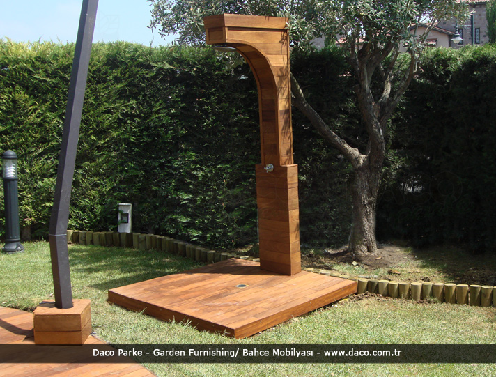 Iroko Garden Shower